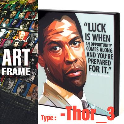 ポップアートフレーム 壁掛け 25cm×25cm Thor_3/絵画/おしゃれ/雑貨 paf-0292
