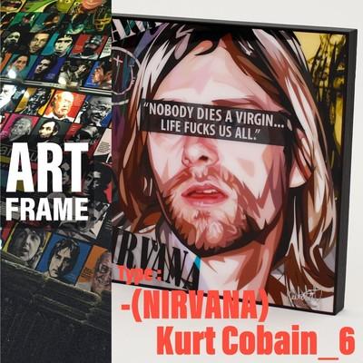 ポップアートフレーム 壁掛け 25cm×25cm  [NIRVANA]Kurt_Cobain_6インテリア/絵画/おしゃれ/雑貨 paf-0785