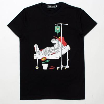 デザインTシャツ 配管工 入院中 jpt-0001