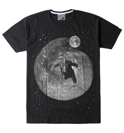 プリントTシャツ A Man With Glasses メンズ/レディース/半袖/おもしろ/おしゃれ ara-0193