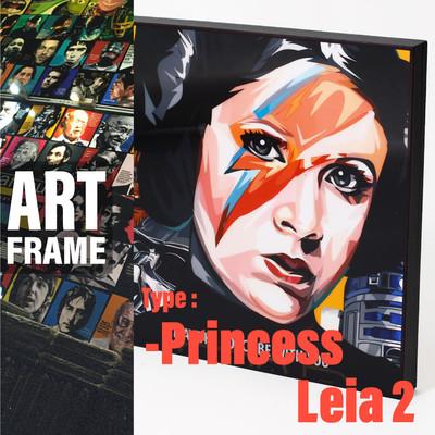 ポップアートフレーム 壁掛け 25cm×25cm Princess_Leia_2 インテリア/絵画/おしゃれ/雑貨 paf-0480