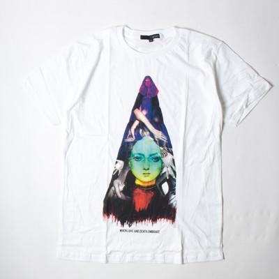 プリントTシャツ When Love And Death Embrace メンズ/レディース/半袖/おもしろ/おしゃれ grt-0035