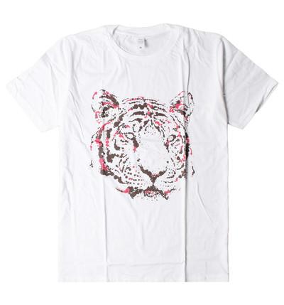 プリントTシャツ スパッタリング タイガー メンズ/レディース/半袖/おもしろ/おしゃれ nki-0018