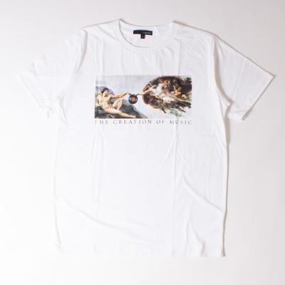 プリントTシャツ 名画 THE CREATION OF MUSIC メンズ/レディース/半袖/おもしろ/おしゃれttt-04/ttt-01 grt-0060
