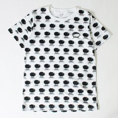 プリントTシャツ ヒツジ模様 メンズ/レディース/半袖/おもしろ/おしゃれ/ttt-03/ttt-07 nki-0034