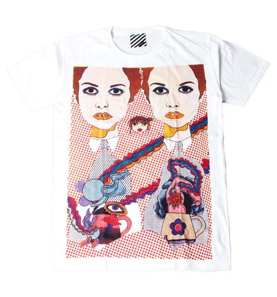プリントTシャツ Psychedelic Art メンズ/レディース/半袖/おもしろ/おしゃれ ara-0175