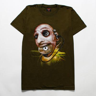 デザインTシャツ ディスクイーター メンズ/レディース/半袖/おもしろ/おしゃれ  hdt-0047-c1(hea-)