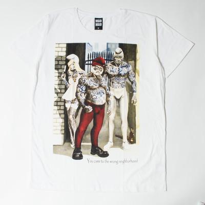 プリントTシャツ wrong neighborhood メンズ/レディース/半袖/Tシャツ/半袖Tシャツ/プリント/秋 mao-0008
