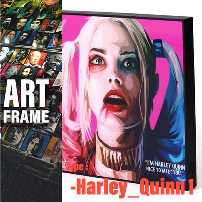 ポップアートフレーム 壁掛け 25cm×25cm Harley_Quinn_1 ハーレイ・クイン 1 インテリア/絵画/おしゃれ/雑貨 paf-0484