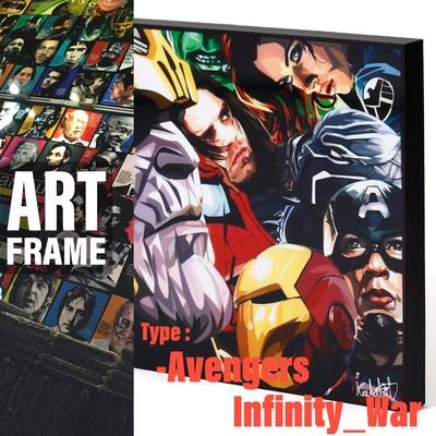 ポップアートフレーム 壁掛け 25cm×25cm Avengers_Infinity_War アベンジャーズ:インフィニティーウォー インテリア/絵画/おしゃれ/雑貨 paf-0389