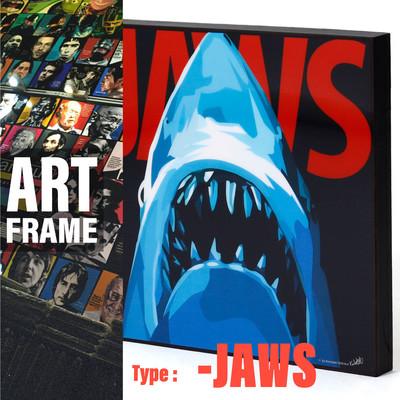 ポップアートフレーム 壁掛け 25cm×25cm JAWS ジョーズ インテリア/絵画/おしゃれ/雑貨 paf-0446