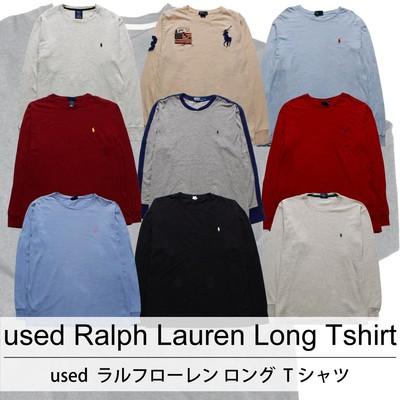 used Ralph Lauren Long Tshirt 古着 ユーズド ラルフローレン ロング Tシャツ 1枚あたり1100円  10枚セット サイズ カラーMIX アソート use-0204
