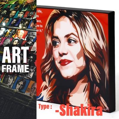 ポップアートフレーム 壁掛け 25cm×25cm Shakira シャキーラ インテリア/絵画/おしゃれ/雑貨 paf-0628