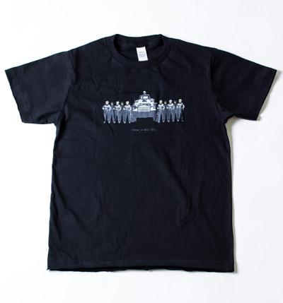 キッズ プリントTシャツ 戦車と兵士 ボーイズ/ガールズ/半袖/おもしろ/子ども/ジュニア/子供服 gpk-0002