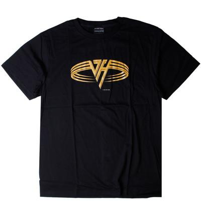 ロックTシャツ Van Halen ヴァン ヘイレン 黄金ロゴ Greatest Hits wft-0447