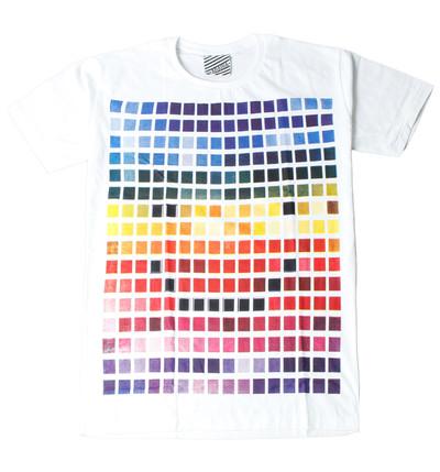 プリントTシャツ カラフルタイル メンズ/レディース/半袖/おもしろ/おしゃれ ara-0170