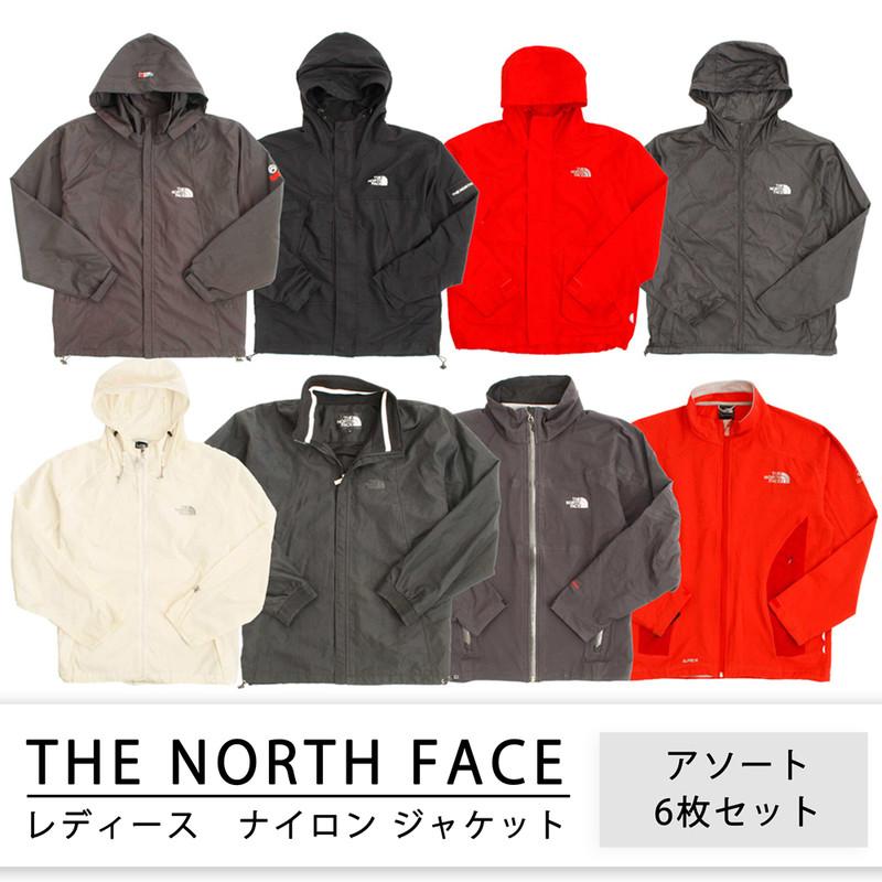 used 古着 ナイロン、フリースmix 、レディース [THE NORTH FACE] 1個あたり2,400円 6枚セット MIX アソート use-0025
