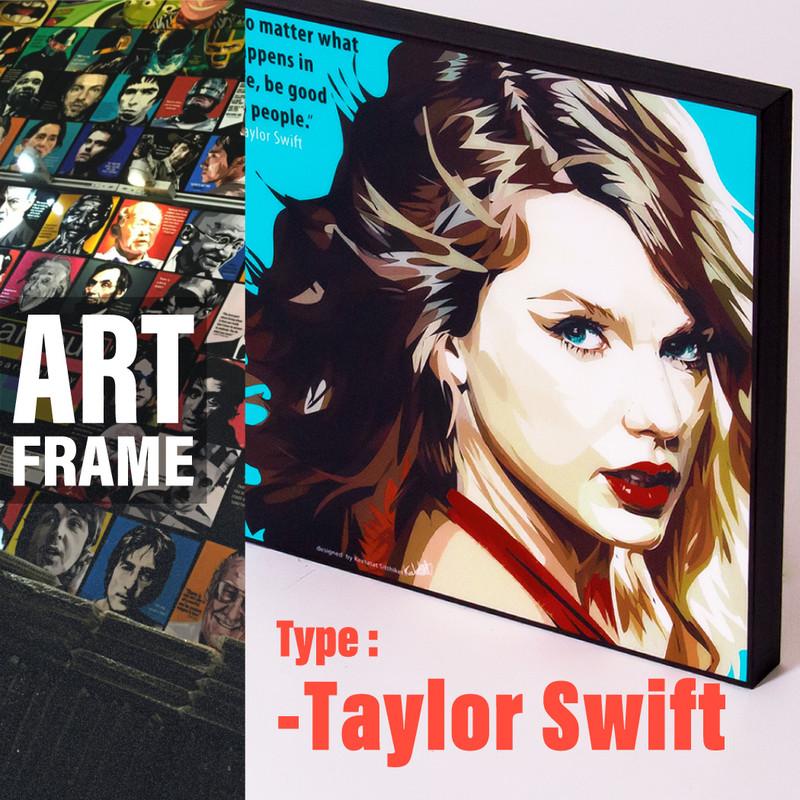 ポップアートフレーム 壁掛け 25cm×25cm Taylor_Swiftt テイラー・スウィフト インテリア/絵画/おしゃれ/雑貨 paf-0153