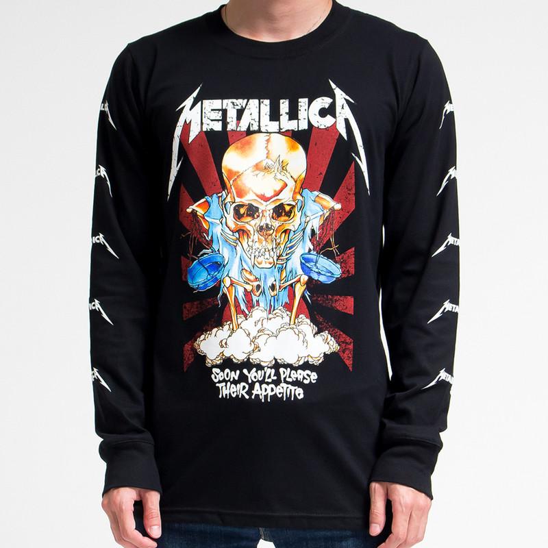 ロックTシャツ ロングTシャツ ロンT  メタリカ agl-0001