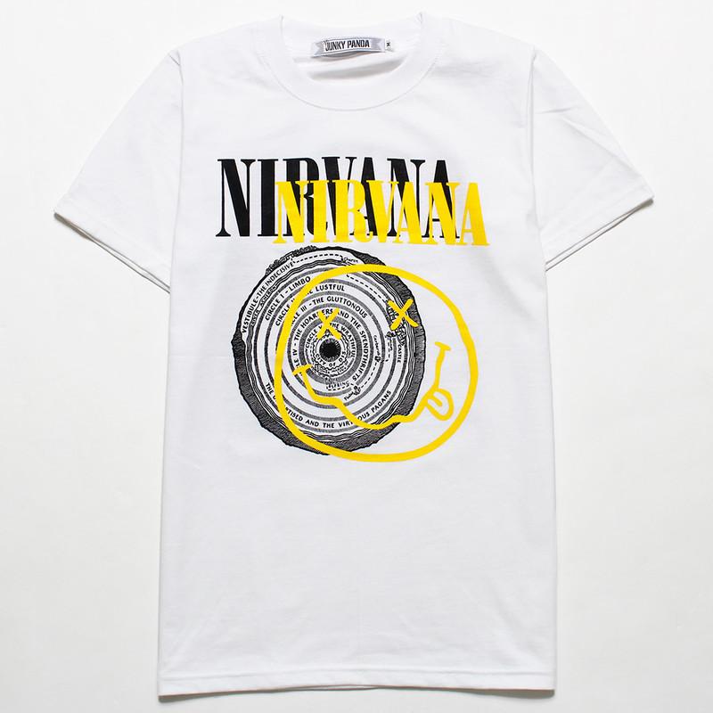 ロックTシャツ Nirvana ニルヴァーナ ニコちゃん×サークル jp2-0002