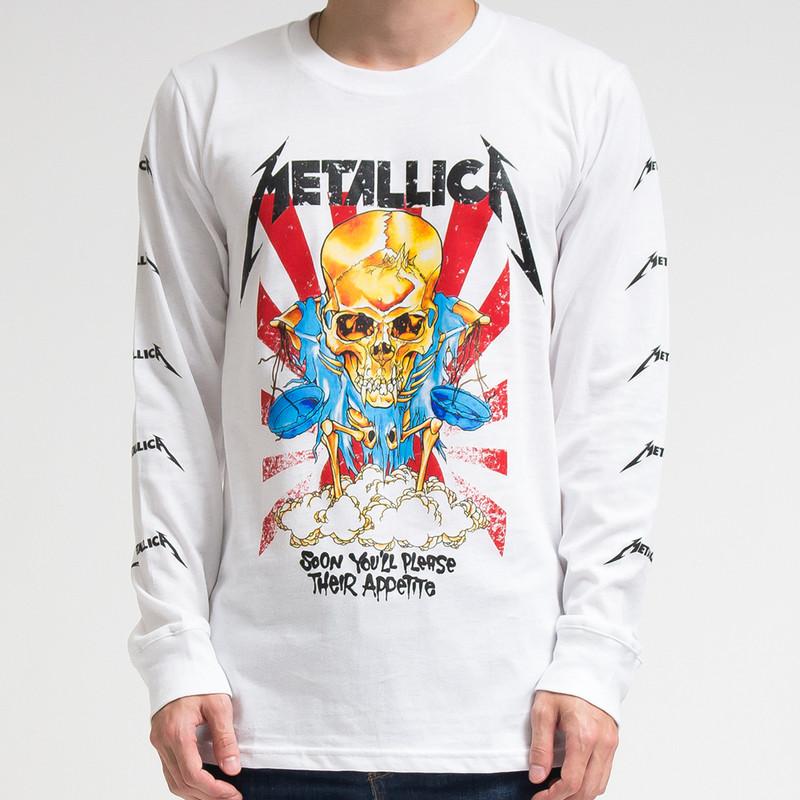 ロックTシャツ ロングTシャツ ロンT  メタリカ agl-0007