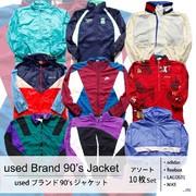 used 90's Brand Nylon Jacket 古着 90年代 ブランド ナイロンジャケット 10枚セット MIX アソート