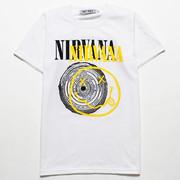 ロックTシャツ Nirvana ニルヴァーナ ニコちゃん×サークル