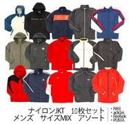 used 古着 ナイロン ジャケット JKT メンズ 大きめ [NIKE,adidas,Reebok,PUMA] 10枚セット サイズMIX アソート